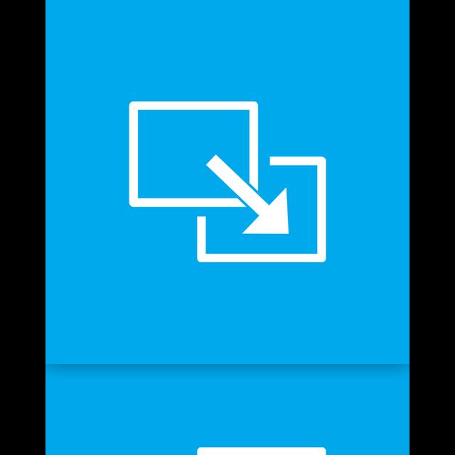 full, mirror, screen, exit icon