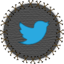 tweet, social, social network, bird, seam, twitter, yama, patch icon