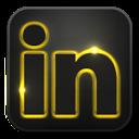Glow, Linkedin, Neon icon