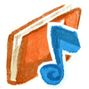 Music, Red icon