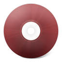 cd, disk, rouge, save, disc icon