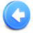 back, arrow, backward, prev, previous, left icon