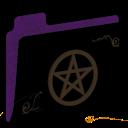 Pentacle Empty Folder (purple) icon