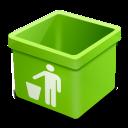 green trash empty icon