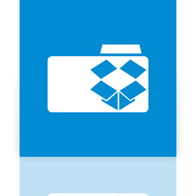 dropbox, mirror, folder icon
