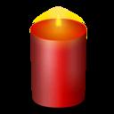 christmas, candle icon