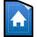 document, blueprint, plan icon