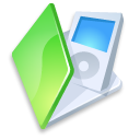 green, ipod, folder icon