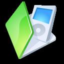 green, ipod, folder icon