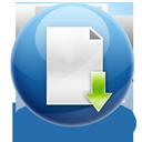 descending, document, download, paper, down, file, fall, descend, decrease icon