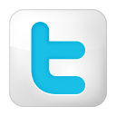 Box, Social, Twitter, White icon