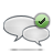 comment, check icon