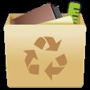 trash, full, trashcan, garbage, recycle bin icon