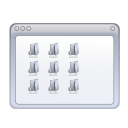 window, view, folder icon