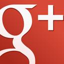 googleplus, square, red icon