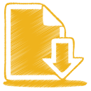 yellow document download icon
