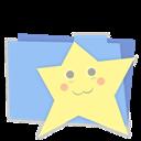 Blue, Favorites, Folder icon
