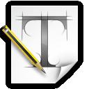 preferences, desktop, font icon
