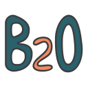 b2o, business to operator, business 2 operator, business model icon