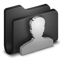 User Black Folder icon