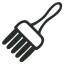 Brush, Outline icon