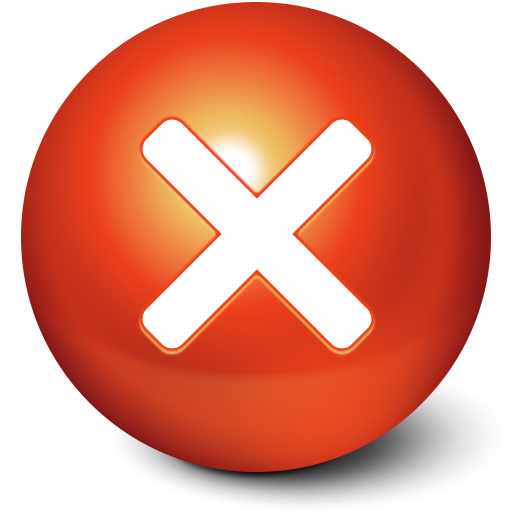 ball, cute, close, stop, no, cancel icon