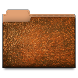 leather, folder, brown icon