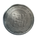 silver, coin, paypal icon