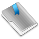 Grey Flag Blue icon