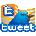 twitter flag gold icon
