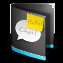 chat,folder,black icon