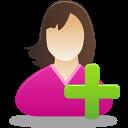 add female user icon
