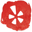 yelp, network, social, review, restaurant icon