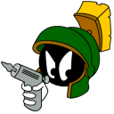 Marvin Martian Angry with gun icon