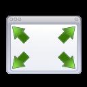 Actions window fullscreen icon