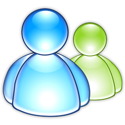 msn, aqua, messenger icon