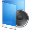 Folder Blue Music icon
