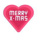 message, merry, christmas, love, heart icon