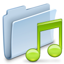 folder, music, badged icon