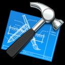 blueprint, hammer, xcode, utility, tool icon
