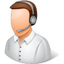 Occupations Technical Support Representative Male Light icon