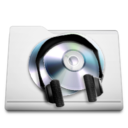 white,folder,music icon