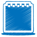 34, blue icon