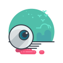 holiday, spooky, eyeball, scary, halloween icon