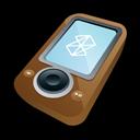Brown, Microsoft, Zune icon