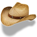straw, cowboy, hat icon