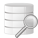 database, zoom, search icon