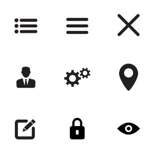 Internet and web flat icon sets preview