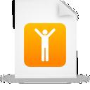 Document, File, g, Men, Orange, Paper icon