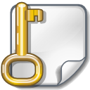 file, key, locked, encrypted icon